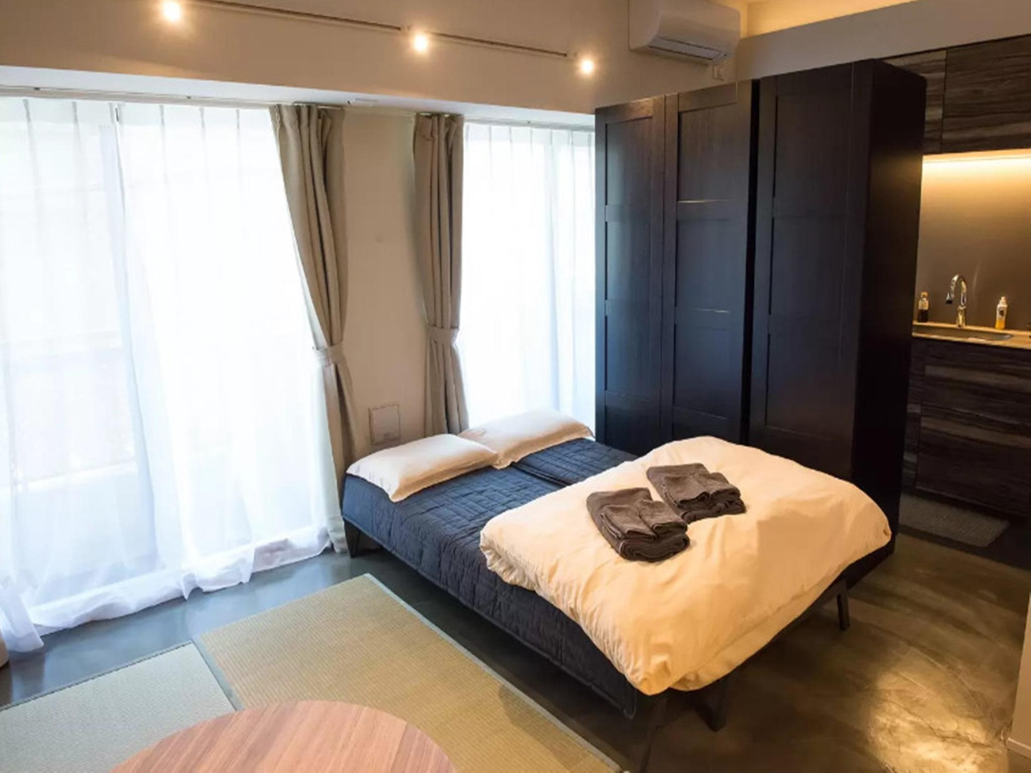 room with the japanese tatami mat