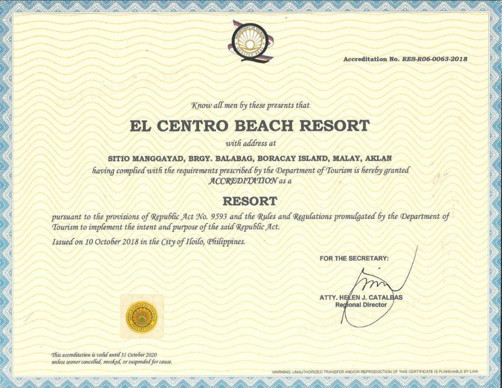 BOOK FROM NZ$63 >> El Centro Island Beach Resort Boracay in