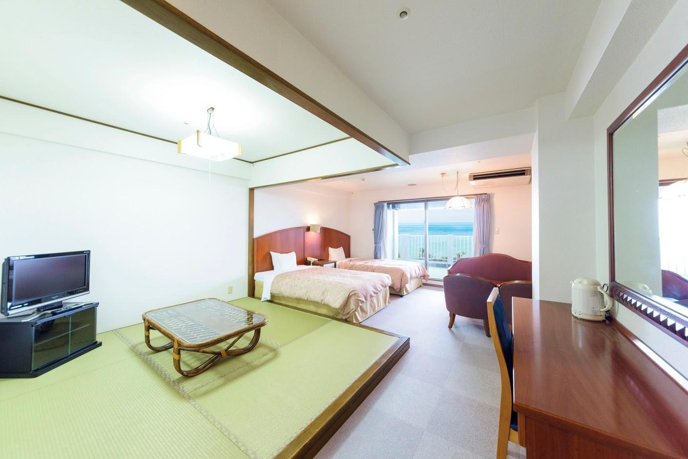 Nice Hotel Room With Ocean View Twin Beds