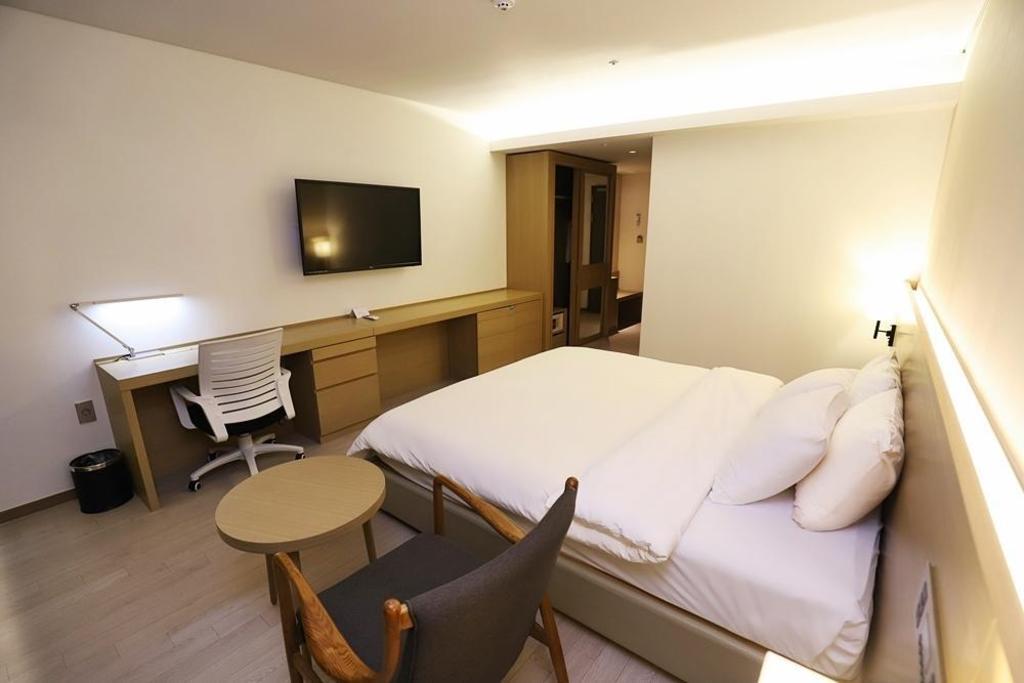 标准双人房 - 房间平面图 原州城市酒店 (wonju citi hotel)