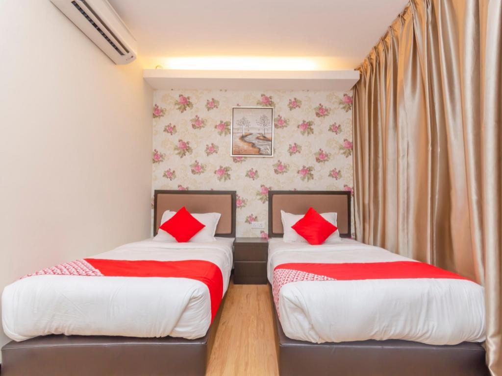 豪华房(两床) - 睡床 oyo 1214 oro hotel图片