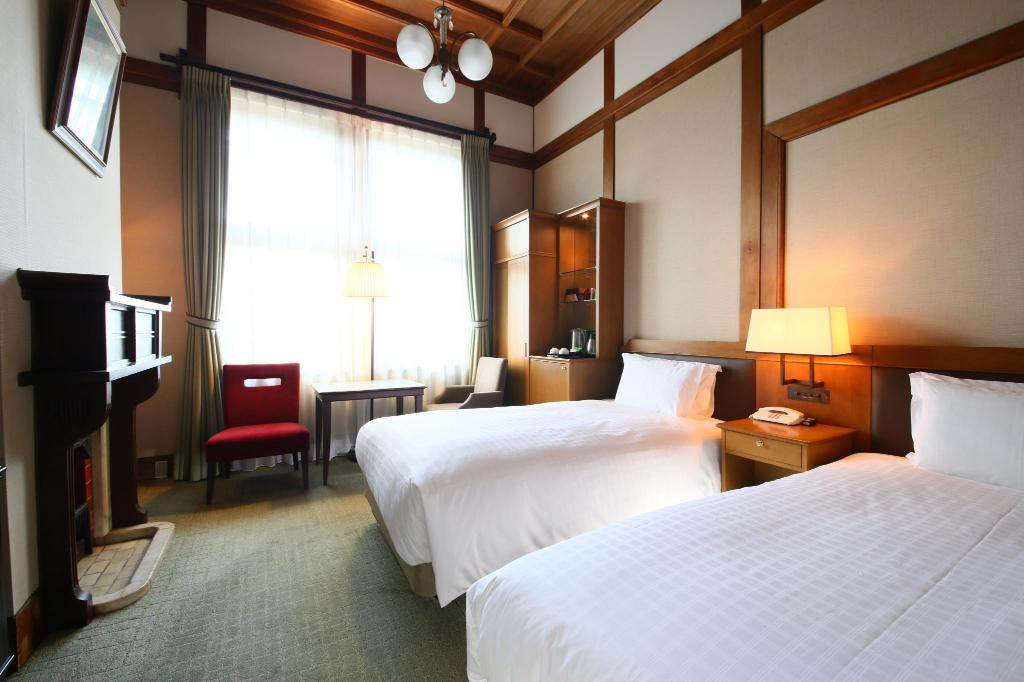 Standard Twin - City View - Room plan Nara Hotel