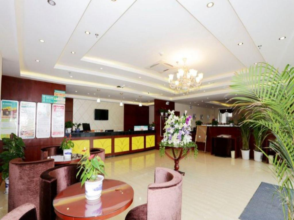 Vestíbul GreenTree Inn Jiangsu Nanjing Maqun Street Communication Technician Insititution Shell Hotel