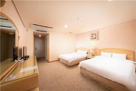 Standard Family Twin - Room plan Jeju Hawaii Hotel