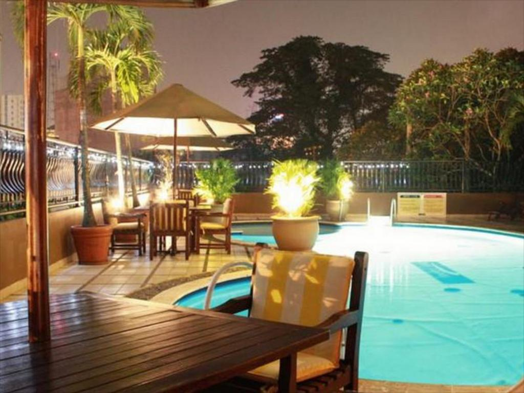 Swimmingpool Travellers Suites Serviced Apartments