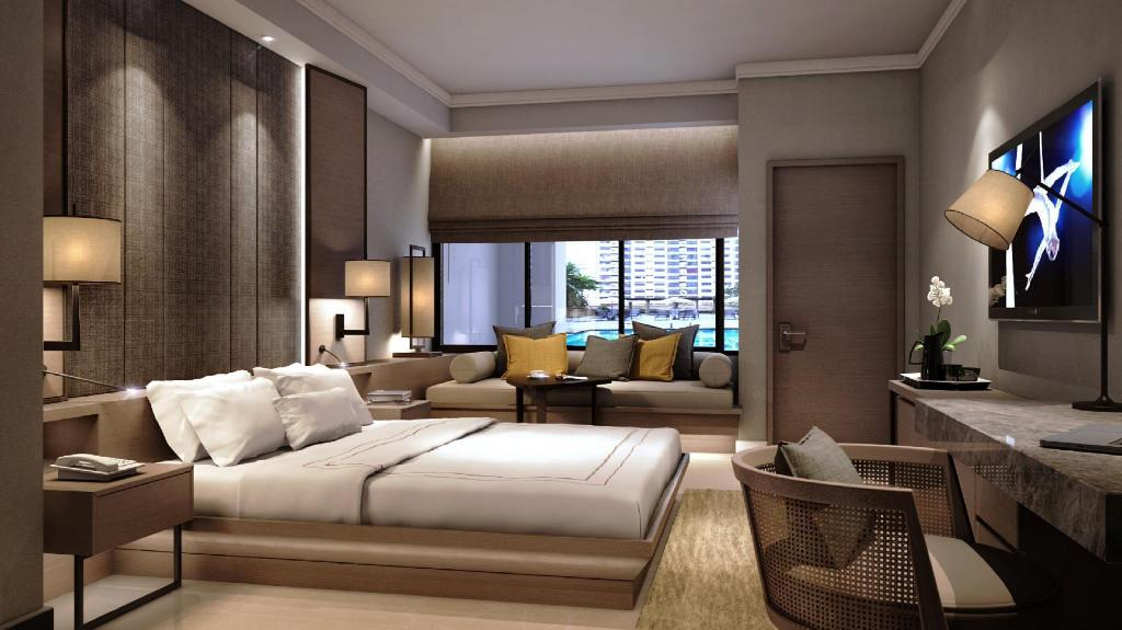 Cabana Poolside, Executive lounge access, Studio, Pool view - Bed JW Marriott Hotel Kuala Lumpur
