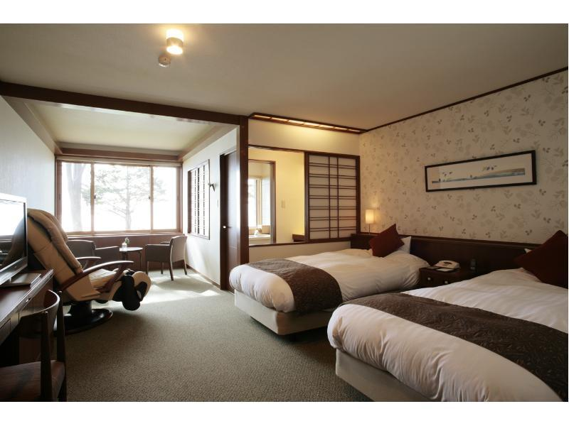 Twin Room with Indoor Natural Hot Spring Bath *No children
