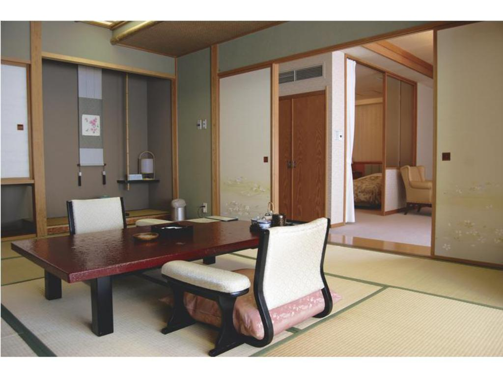 Japanese/Western-style Room with Open-air Bath (2 Beds) - Guestroom Ryotei Hanayura