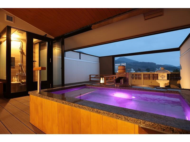 Japanese/Western-style Room with Open-air Bath (2 Beds, Sansuitei Wing)