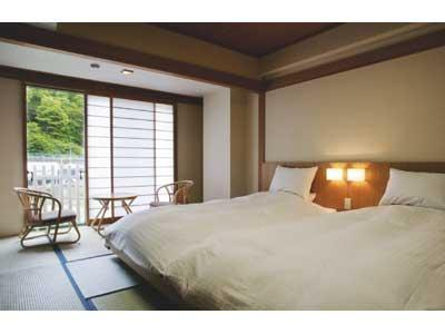 湯之街館 和式房 (Japanese-style Room (2 Japanese Beds, Yunomachi Wing))