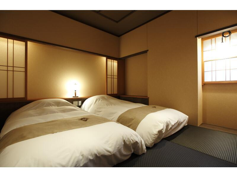 和式房+日式床+露天風呂 (Japanese/Western-style Room with Open-air Hot Spring Bath (2 Japanese Beds, Type A))