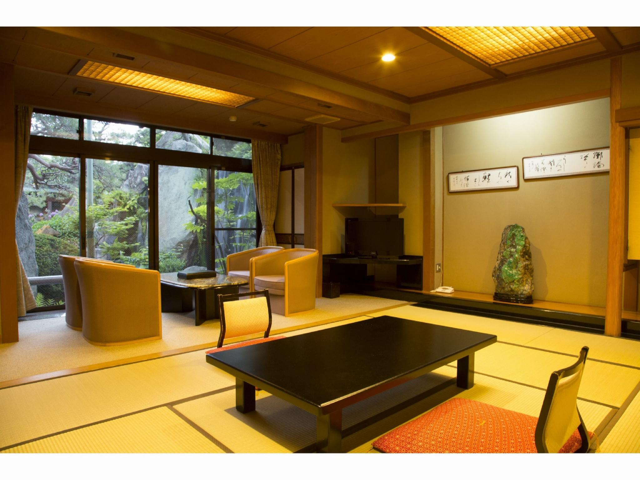 【西殿】和室10畳 (Japanese-style Room with Reception Room (Nishiden Type))