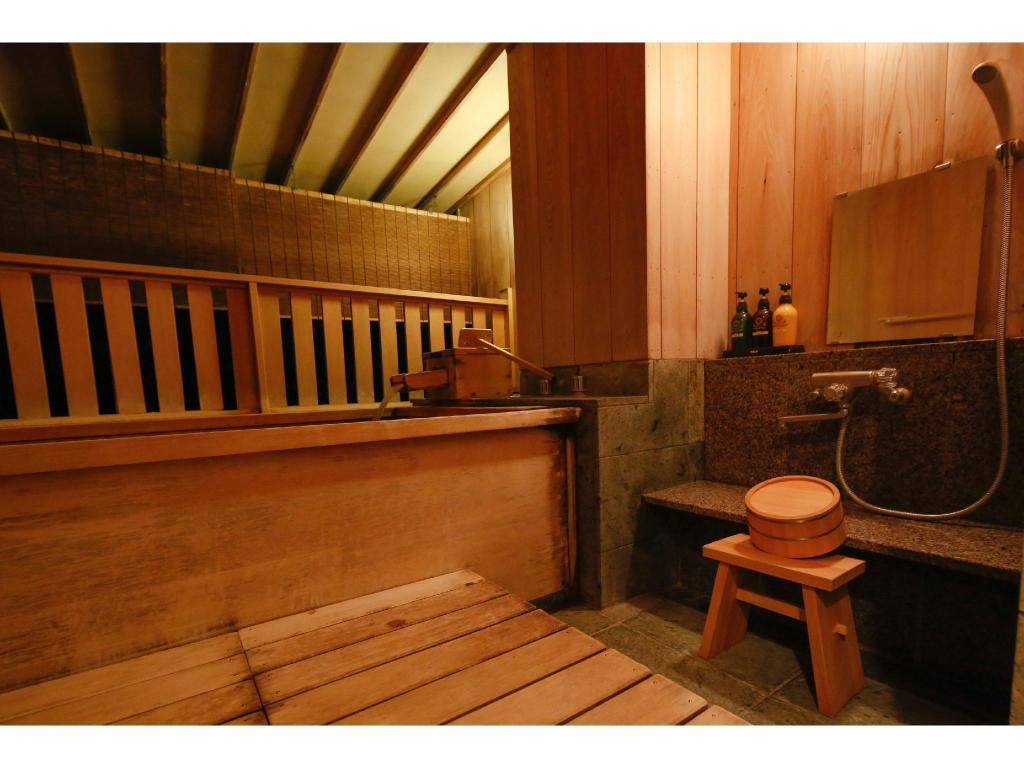 Japanese-style Room with Open-air Hot Spring Cypress Bath (Doppo Type E)  - Guestroom