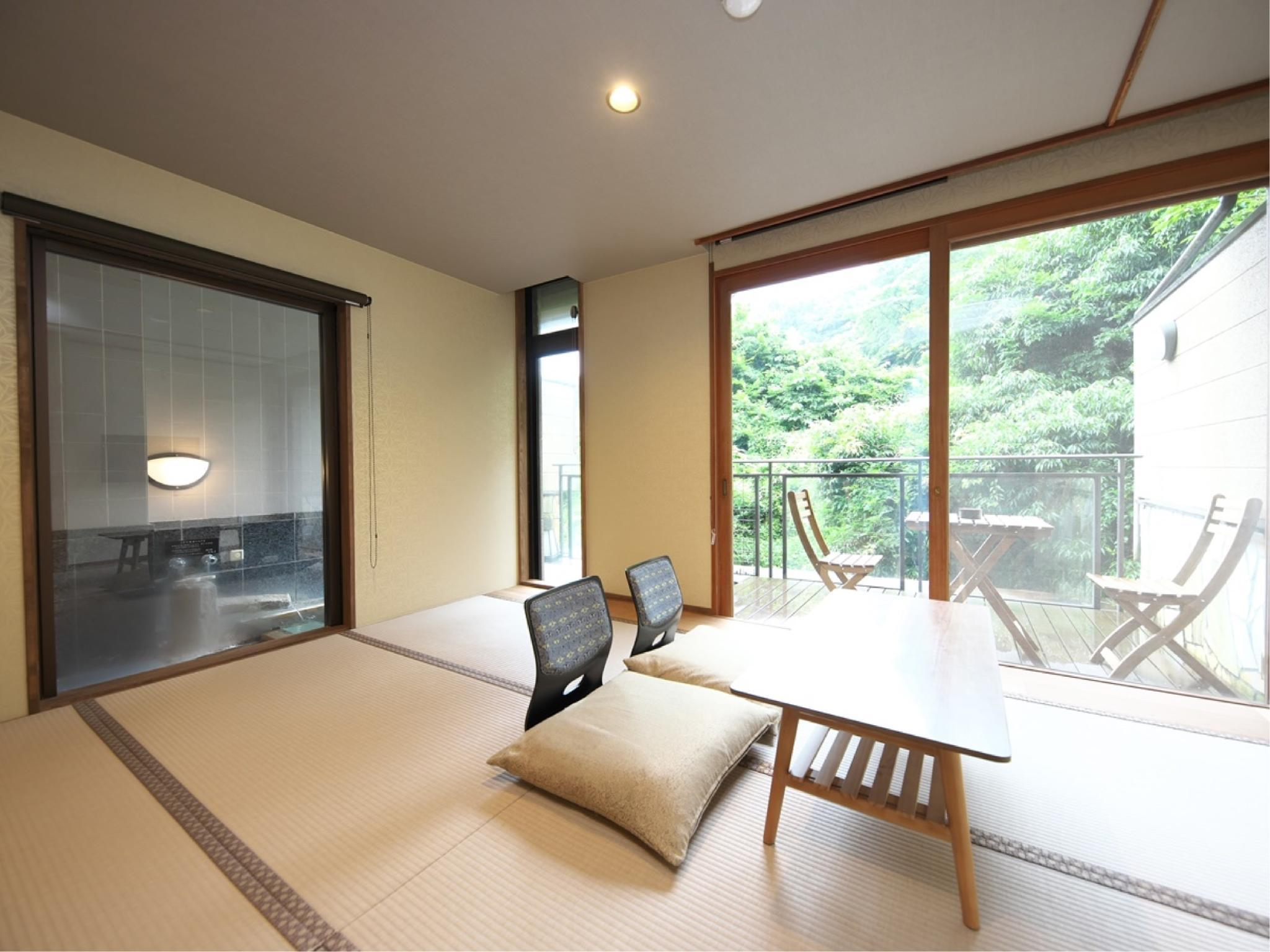 Japanese-style Room with Open-air Bath (Type C, Main Building)