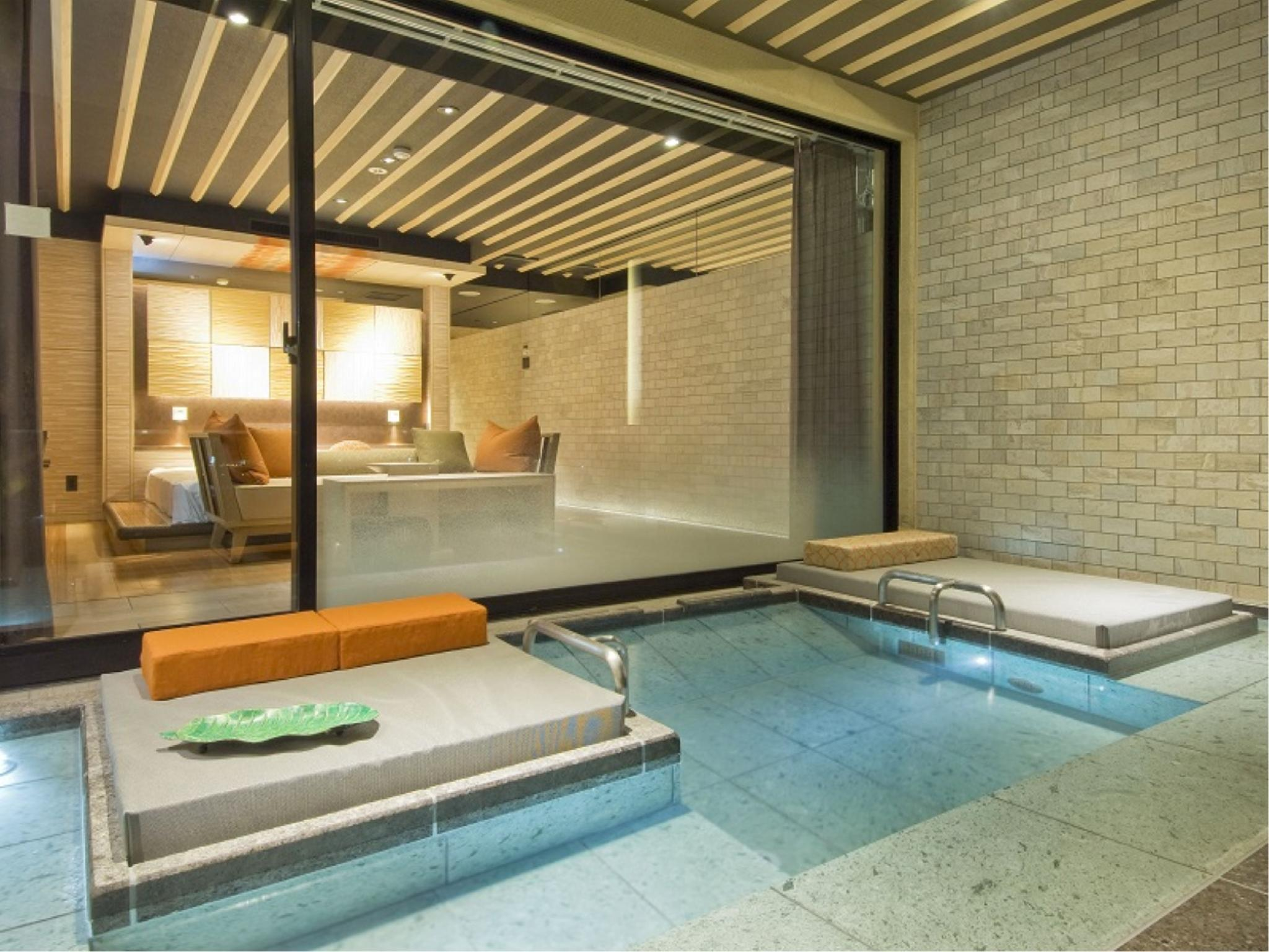 특별실(테라스 있음) (Superior Terrace Twin Room with Open-air Bath (Tenbokan Wing))