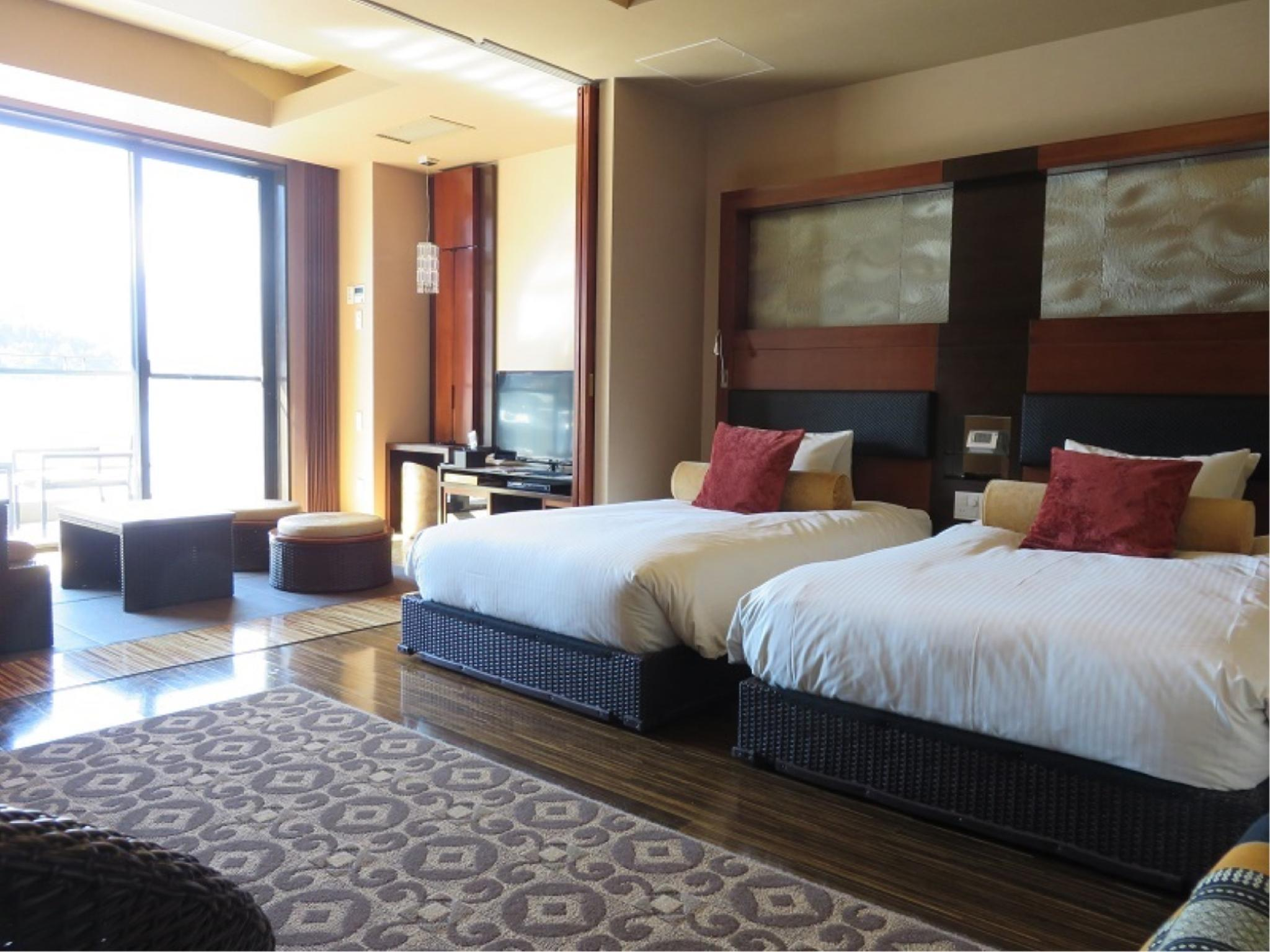 다다미 침대 객실(플라자관) (Executive Large Japanese/Western-style Room (2 Beds, Plaza Wing))