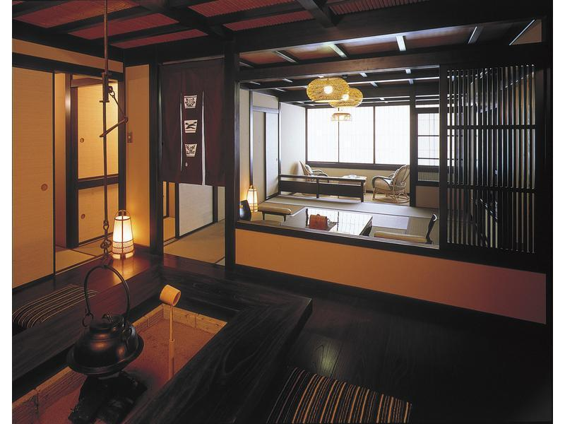 Japanese-style Room with Open-air Bath (Shimogamotei Wing)