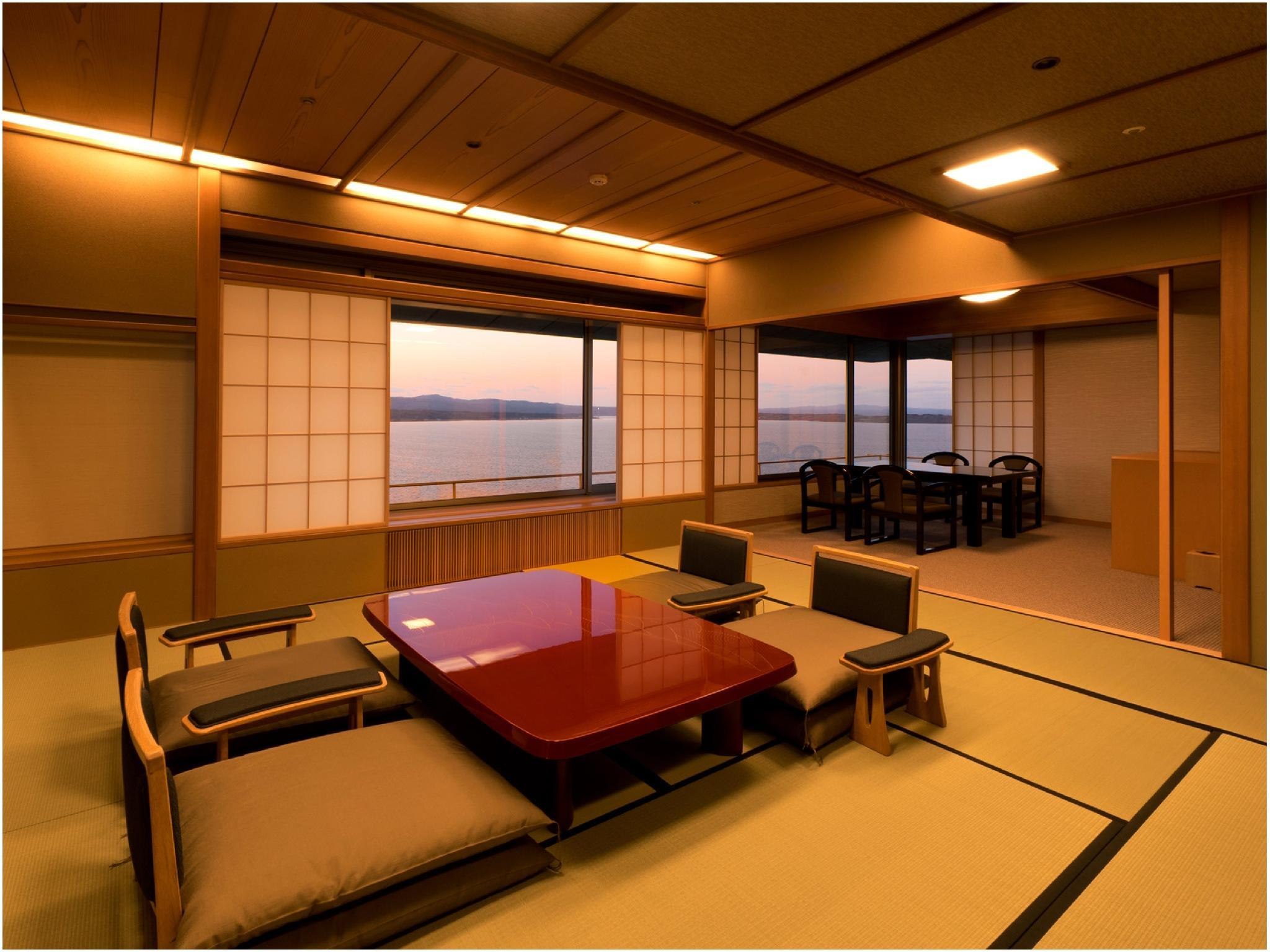 雪月花特选楼层 海景 禁烟 豪华和洋式房(2张单人床) (Deluxe Japanese/Western-style Room (Twin Beds, Setsugetsuka Tokusenkai) *Ocean side view, No smoking)