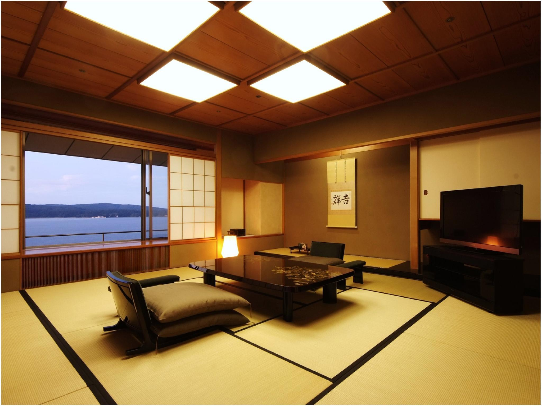滨离宫 海景 和洋式房(行政双人双床房) (Executive Japanese/Western-style Room (Twin Beds, Hamarikyu Wing) *Ocean side view)