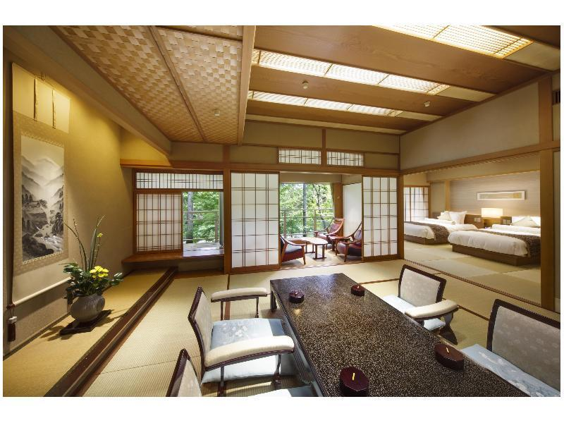 本館 雙人雙床房 (Japanese-style Room with Indoor Cypress Bath (2 Beds))