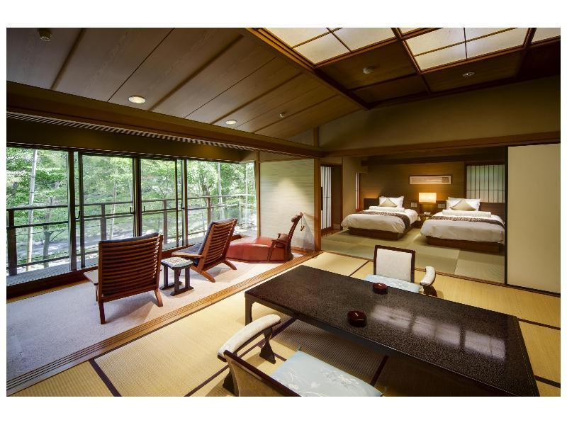 和式房 (Japanese-style Room with Open-air Bath (2 Beds))