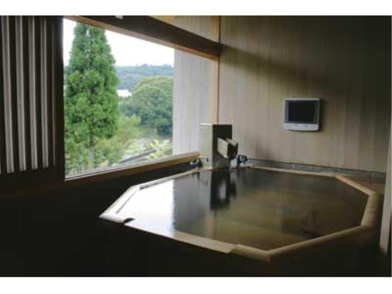 緑水亭和洋室2ベッド露天風呂付 (Japanese/Western-style Room with Open-air Bath (2 Beds))