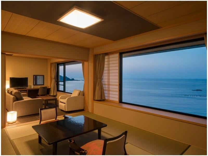 Ocean Suite with Scenic View Semi Open-air Bath (Hokuto Type)