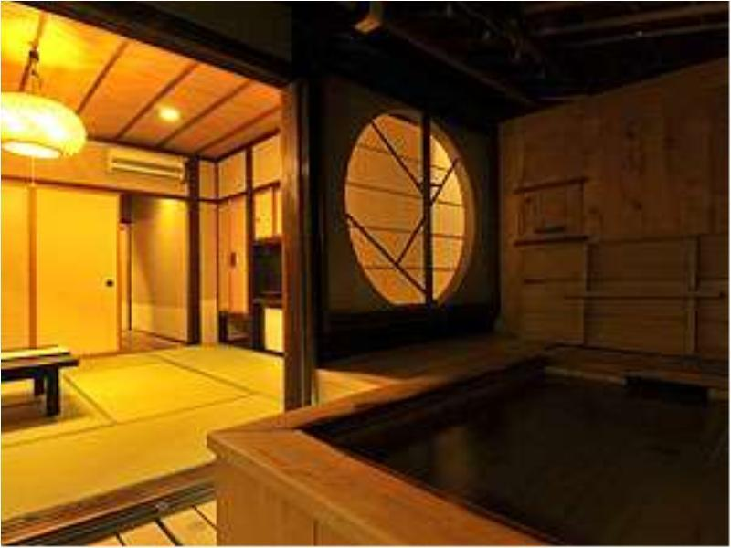 和式房 (Guest Room with Open Air Bath (Twin Bed en suite))