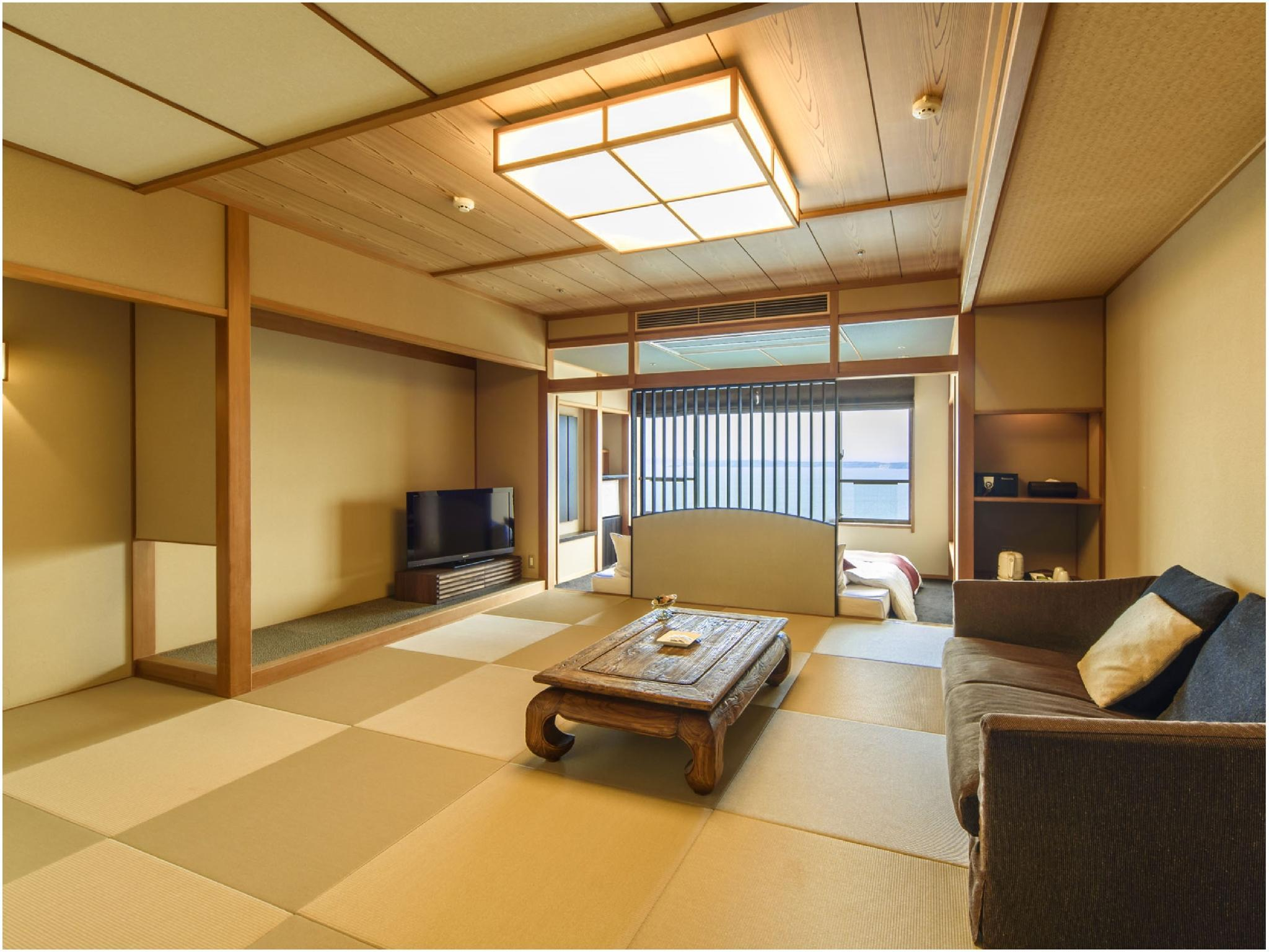 海景 和洋式房(2张床) (Japanese/Western-style Room (2 Beds, Ocean View))