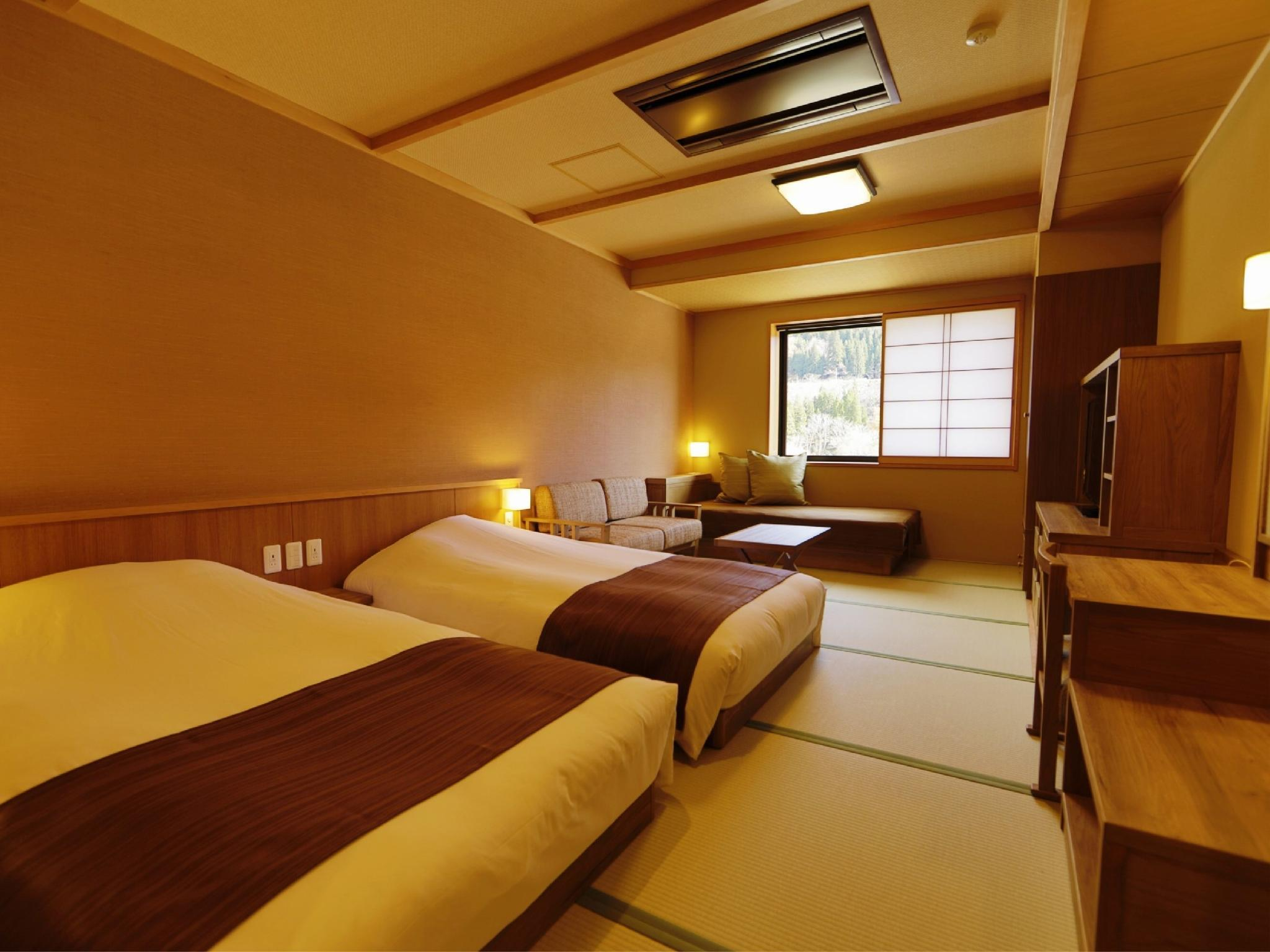 舒適雙人雙床房(日式矮床) (Comfort Twin Room with Japanese Bed(s))