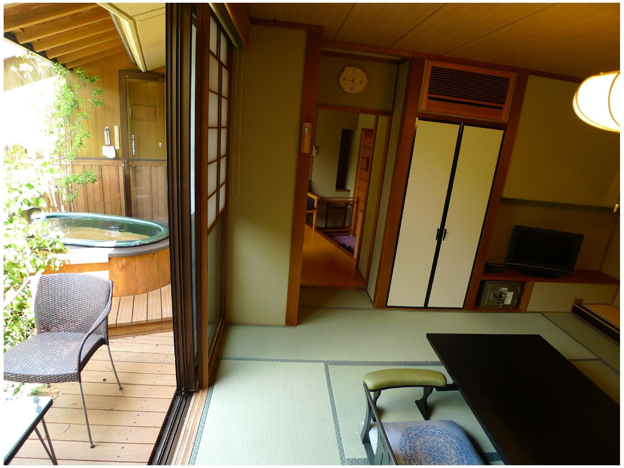 Japanese-style Room with Terrace Seating, Ceramic Open-air Bath, and Garden (Housenka-no-Ma Type, Main Building)