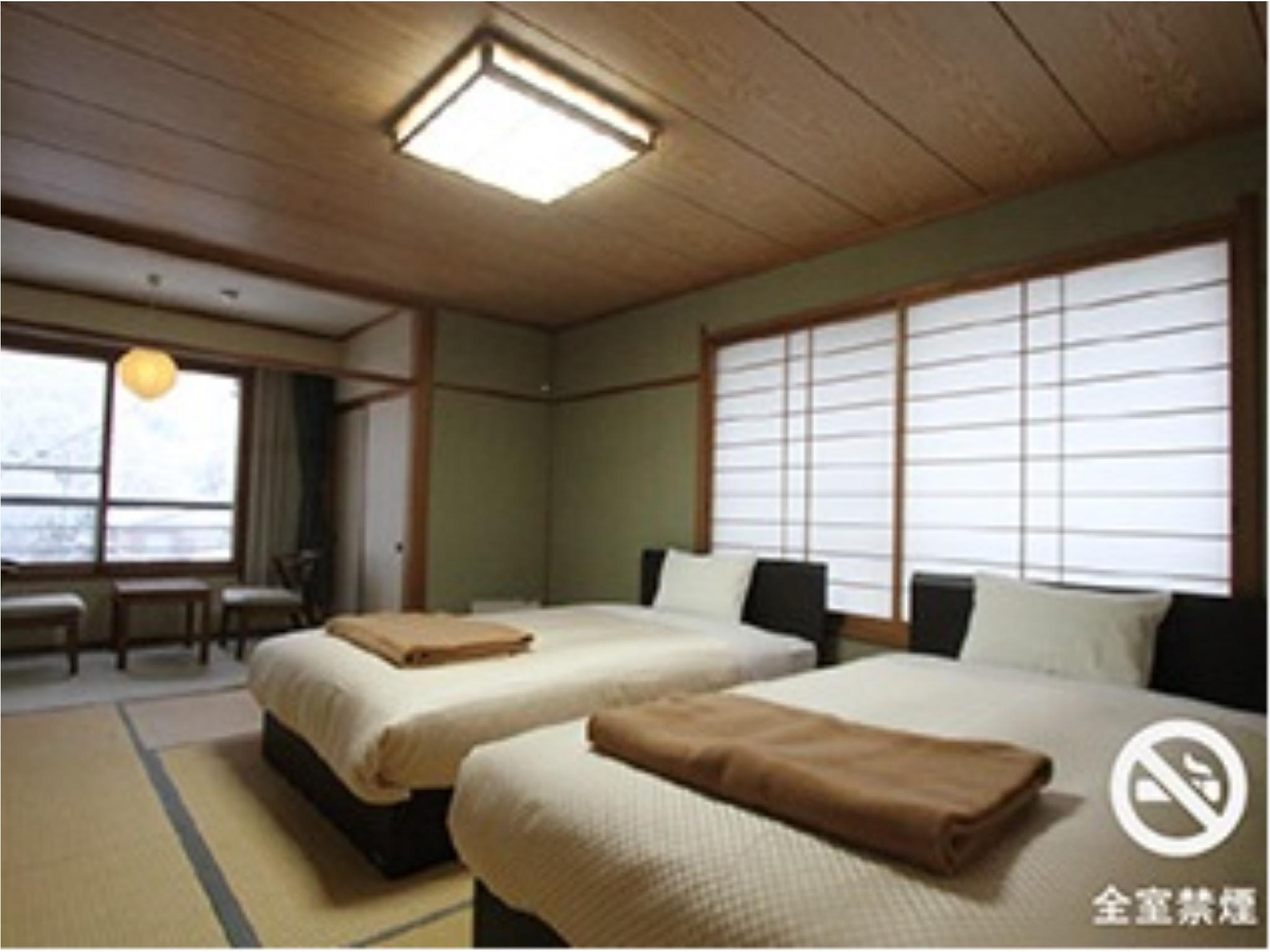 和式双人双床房(2张双人中床) (Japanese-style Twin Room (2 Semi-double Beds))