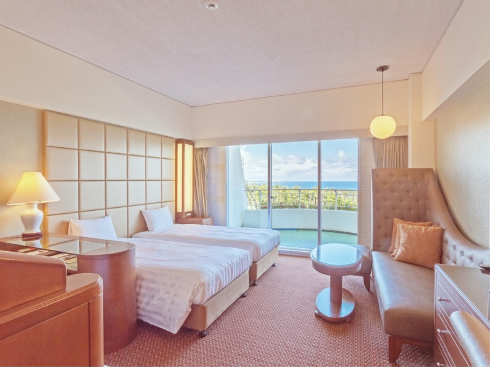 双人双床房 (Twin Room (Ocean View, Wing Tower))