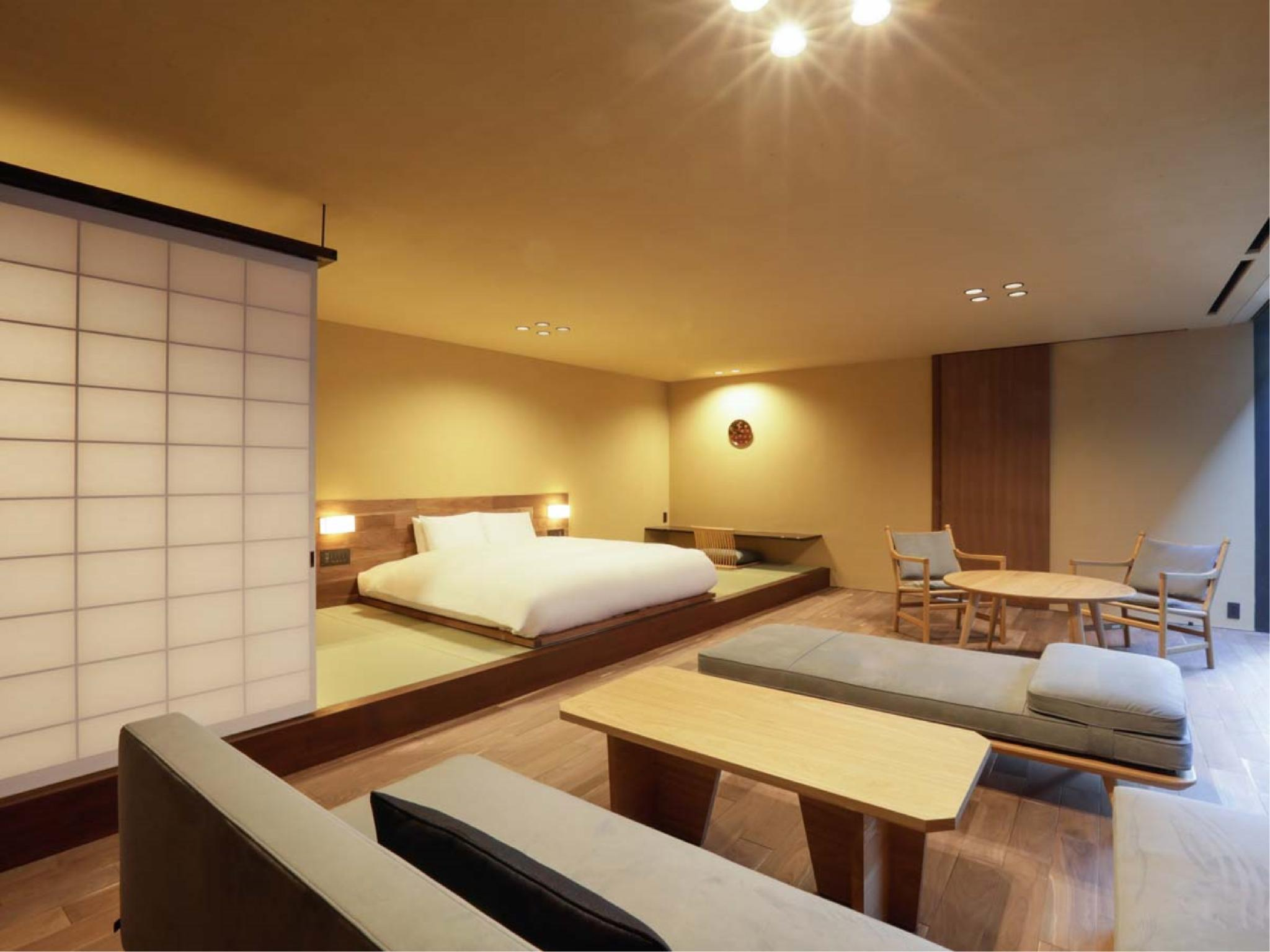 Junior Suite with Garden View Tatami Space (No. 204, New Building)