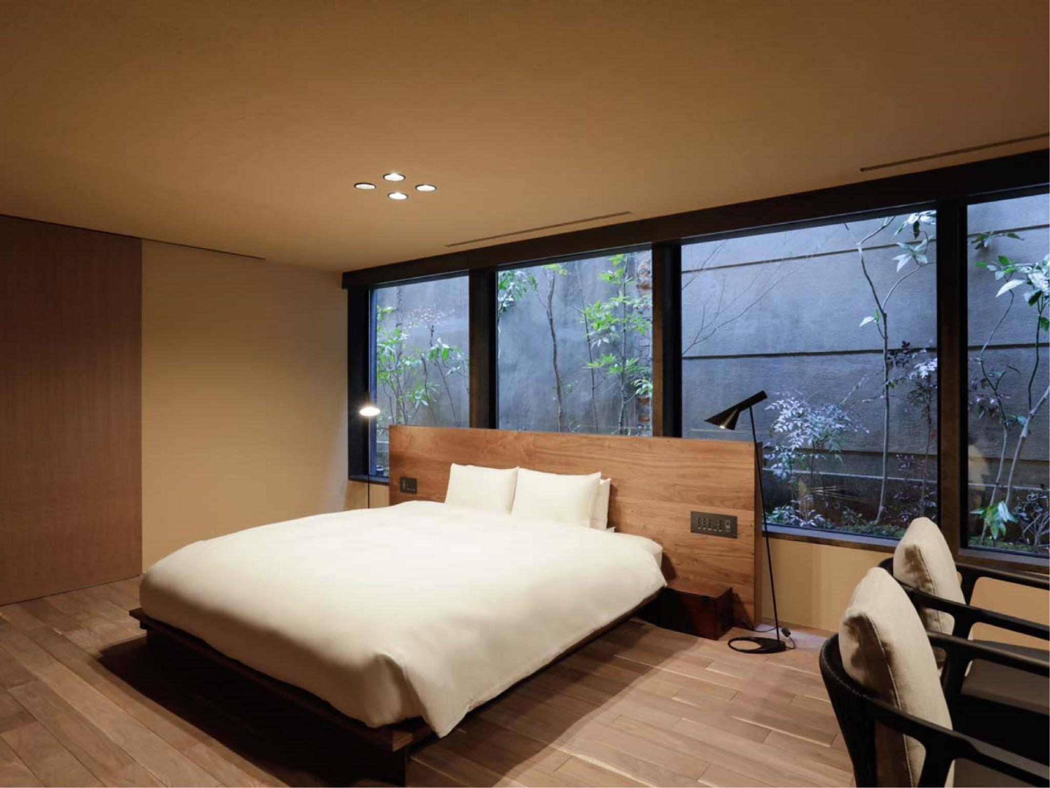 Deluxe King Room with Courtyard View Semi Open-air Bath (No. 201, New Building)