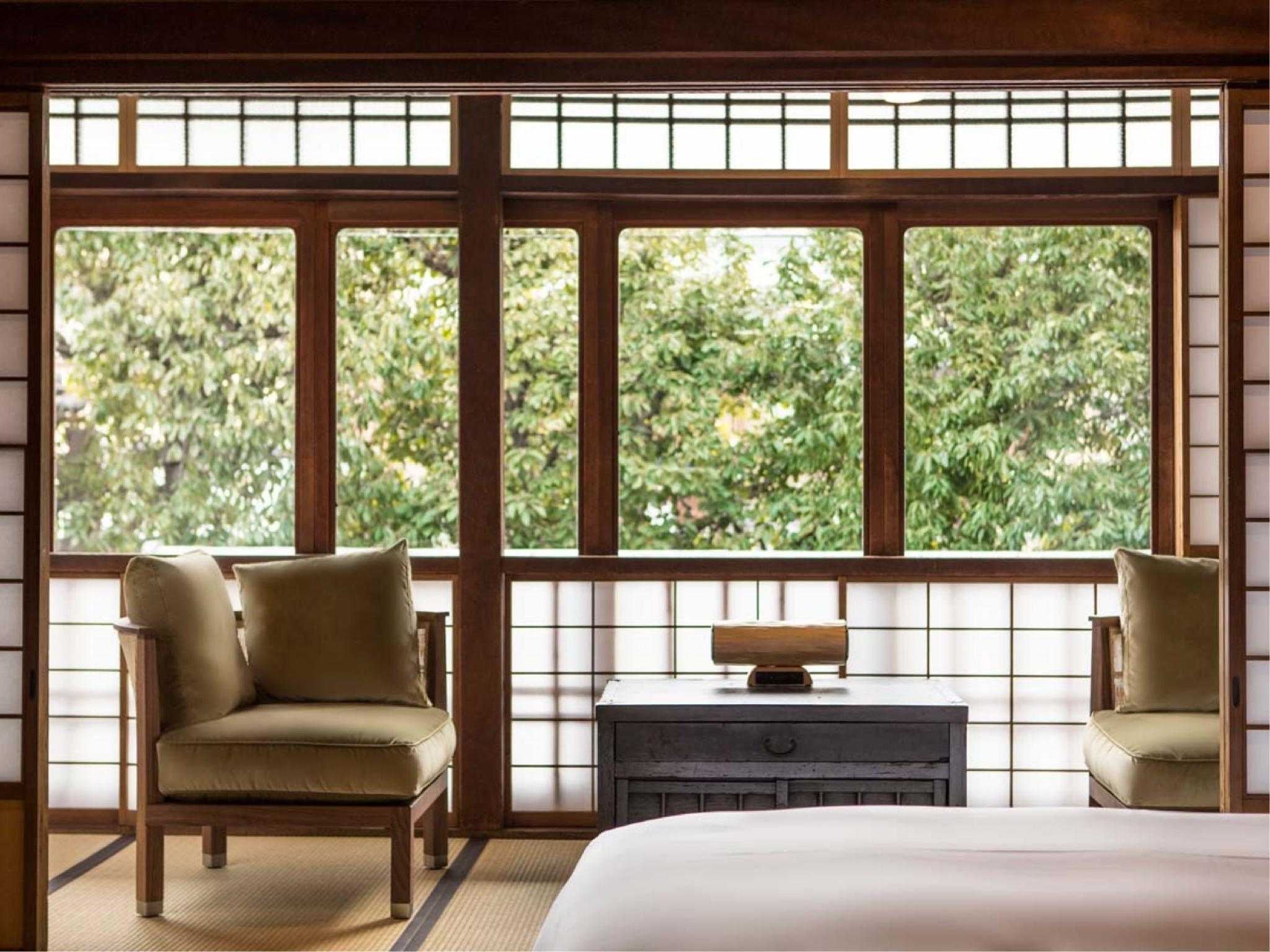 Higashiyama View Deluxe Twin Room (No. 106, Main Building)