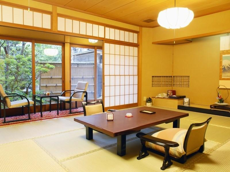 Japanese-style Room with Scenic View Cypress Wood Bath (12 tatami + 6 tatami)