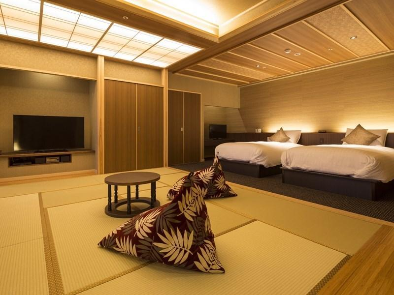 【全室露天風呂付】 ヴィラ楽園/宙の庭<TypeK・禁煙>|92.38平米 (Japanese/Western-style Room with Open-air Bath (Type K, Villa Rakuen Wing))