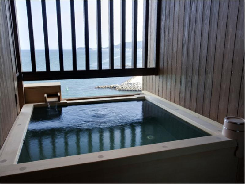露天風呂付和洋室【波瑠香TypeA】|60平米 (Japanese/Western-style Room with Open-air Bath)