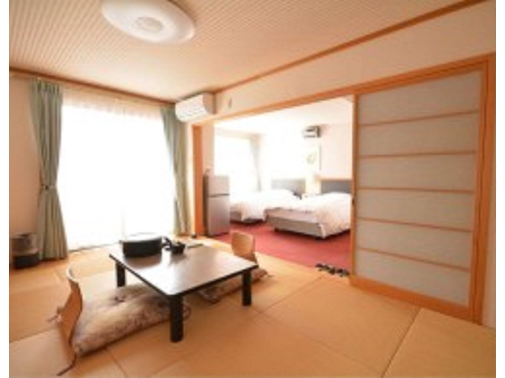 和洋式房+露天風呂(2張床) (Japanese/Western-style Room with Open-air Bath (2 Beds))