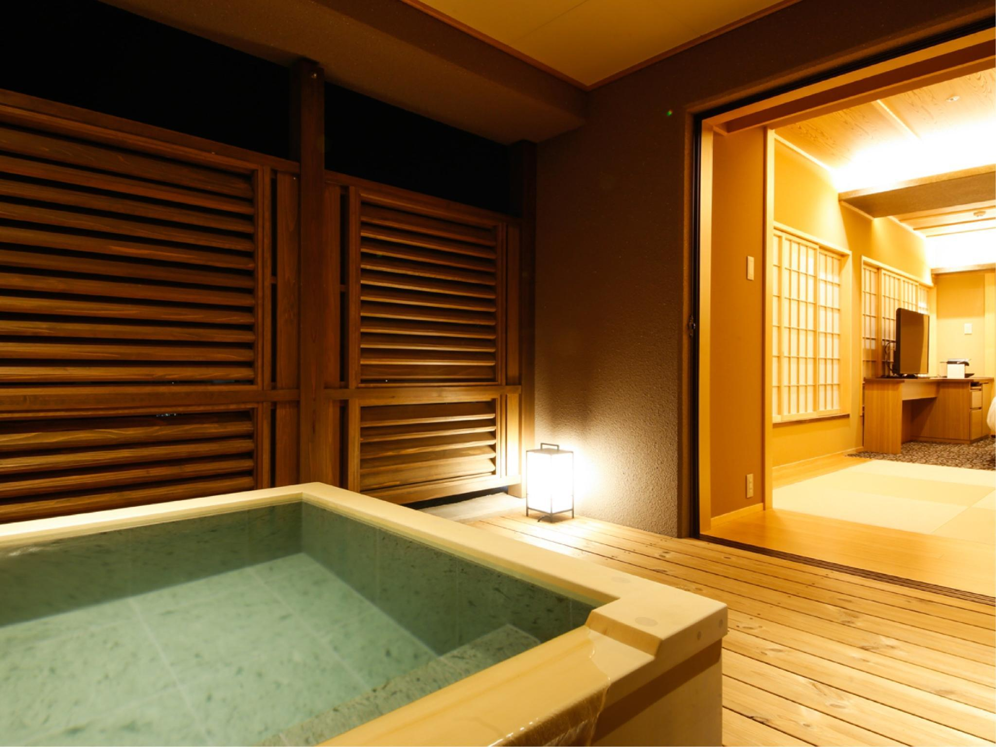 特別樓層「湯樓」 和洋式房B+露台+露天風呂 (Japanese/Western-style Room with Open-air Bath & Terrace (Type B, Special Floor Yuro))