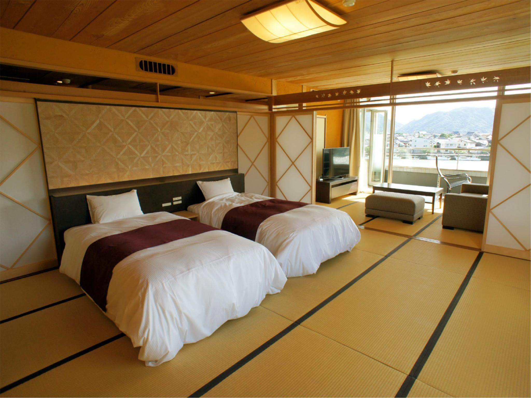Hakkei Terrace Suite with Open-air Bath (2 Beds)
