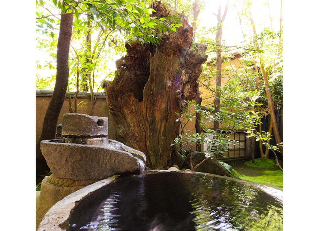 Japanese-style Room with Open-air Cauldron-style Bath (Fuki Type) - Guestroom
