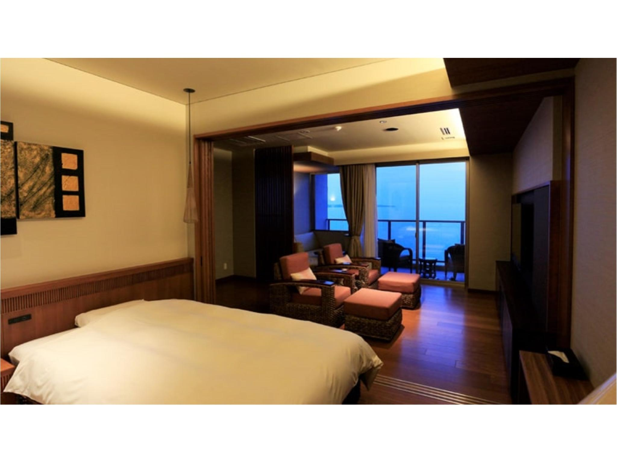 트윈룸(노천탕/샤워부스) *실내탕 없음 (Western-style Room with Open-air Bath *Has shower, no bath in room (*Non-smoking from 2020/12/14))