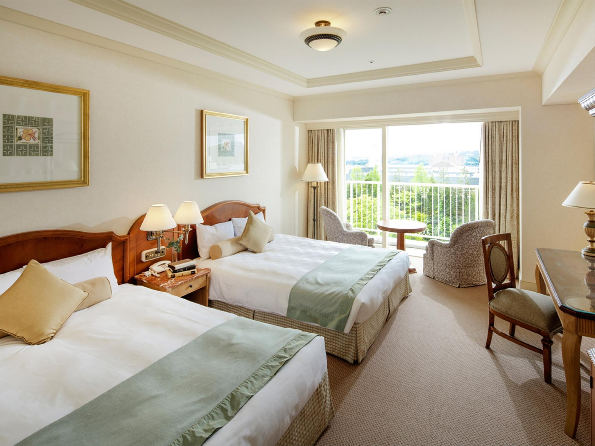 花園景高級觀景盆浴雙人雙床房 (Twin Room with Deluxe View Bath (Garden View))