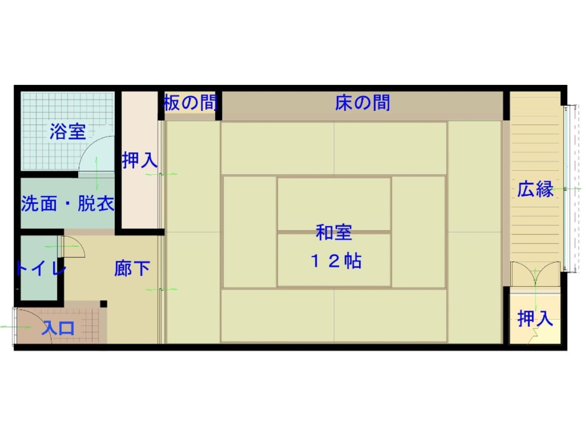 다다미 객실(본관) *2020년 4월부터 금연 (Japanese-style Room (Main Building) *Non-smoking from Apr. 2020)