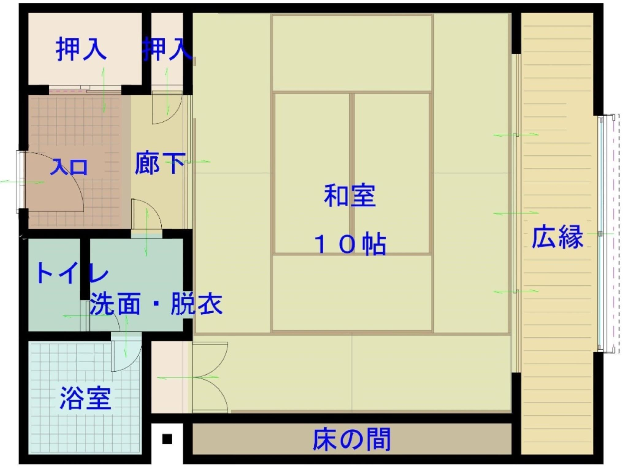 다다미 객실(서관) *2020년 4월부터 금연 (Japanese-style Room (West Wing) *Non-smoking from Apr. 2020)