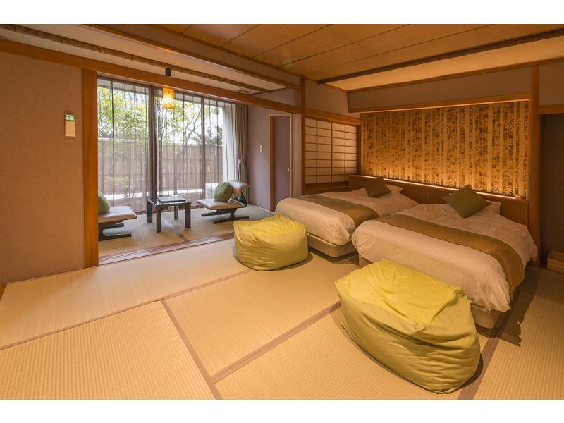 日式摩登双人双床房 (Modern Japanese Style Room with Twin Bed)