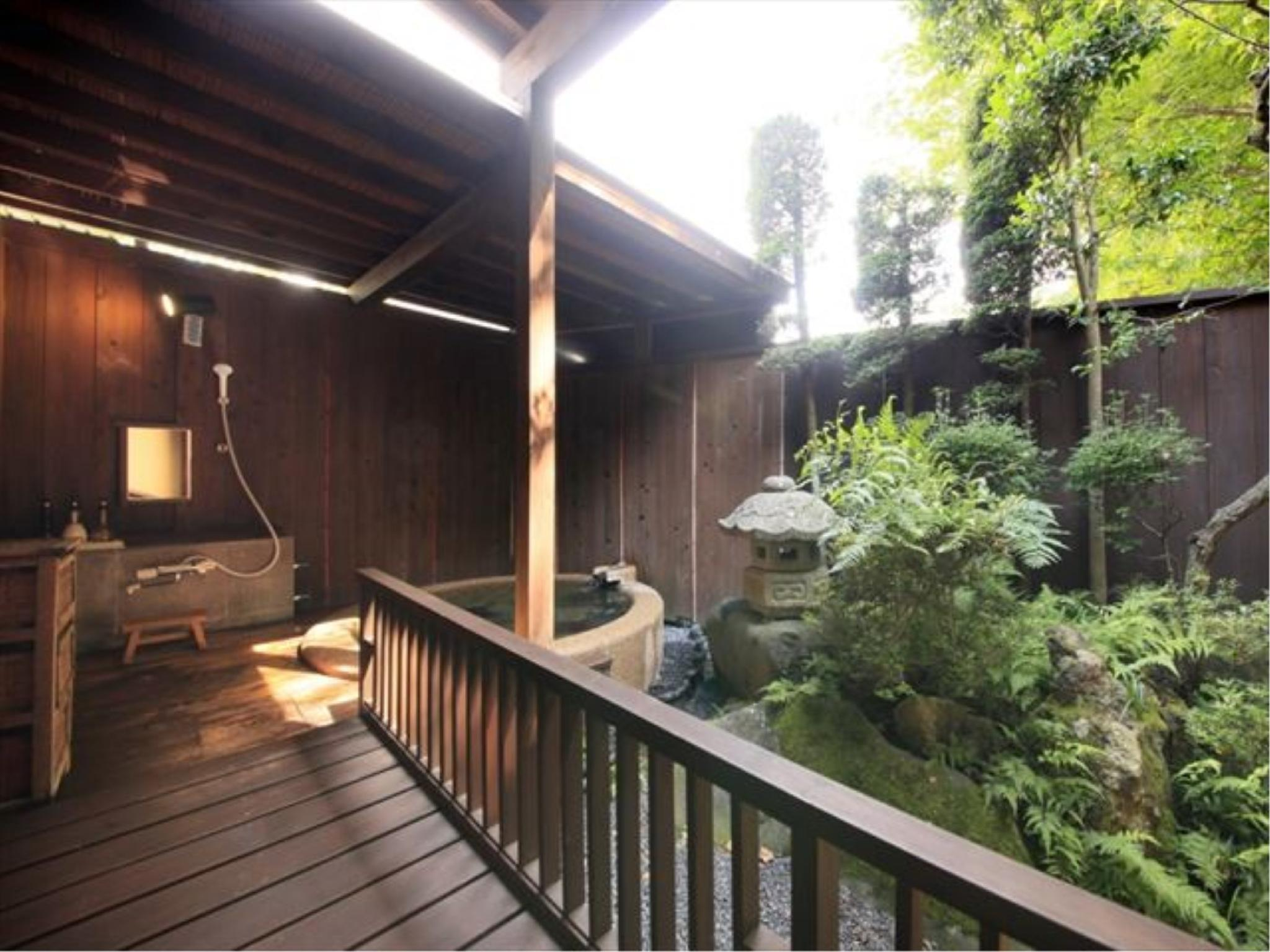 橙彩 特别房(和式房+日式矮床+露天风吕) (Special Japanese-style Room with Open-air Bath (Low Bed(s), Daidaiiro Type))