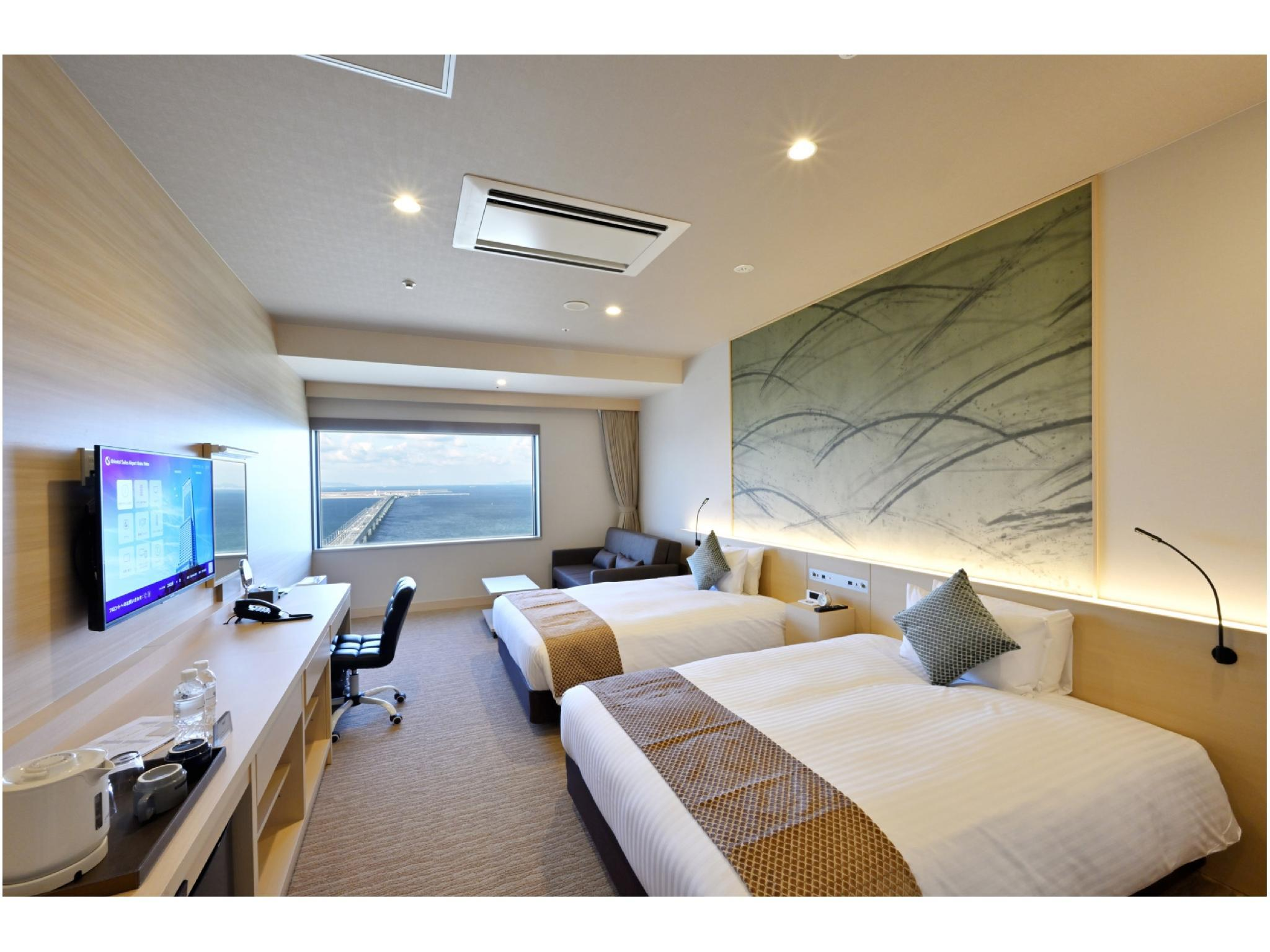 標準雙人雙床房+簡易床(海灣景) (Standard Twin Room with Extra Bed (Bay View))